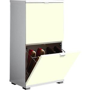 Xora Schuhschrank creme, weiß , Colorado , Metall , 53x91x30 cm , Nachbildung , Typenauswahl , 001258007652