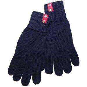 Damen und Herren Strick & Fleece Handschuhe Navy 8-9