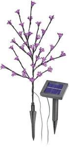Esotec Solar-Dekoleuchte Arbuste 102104 Blütenstrauch LED 0.6W Pink Anthrazit