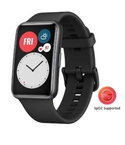 Huawei Smartwatch Watch Fit schwarz ,  GPS integriert, trackt schwimmen, laufen, Radfahren