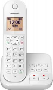Panasonic Festnetztelefon KXTGC420 weiß ,  schnurlos, mit AB, 1 Mobilteil