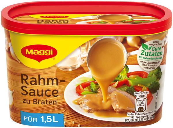 Maggi Rahmsauce zu Braten ergibt 1,5 ltr