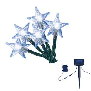 """TrendLine LED-Solar-Sternenlichterkette """"mit 50 LED weiß, mit 2. Batteriefach"""""""