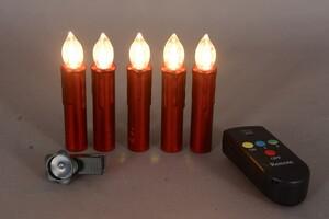 "TrendLine LED Lichterkette mit Funkfernbedienung ""10 LED Kerzen, rot"""