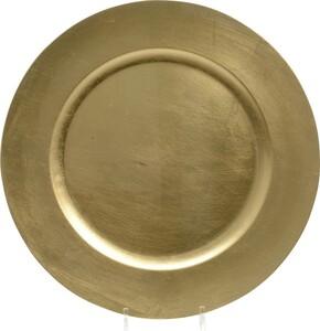 """Kaemingk Kunststoffteller """"Ø 33 cm, gold"""""""