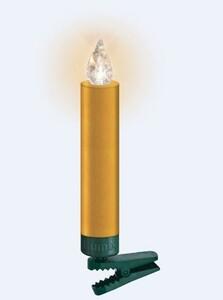 "Krinner Lumix Weihnachtsbaumkerzen Premium mini ""Basisset, 12 LED Kerzen, gold"""