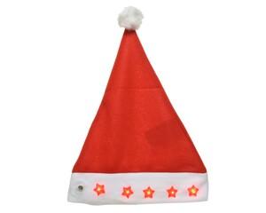 """Kaemingk Weihnachtsmannmütze mit Sternen """"rot, 1,30 x 40 cm"""""""