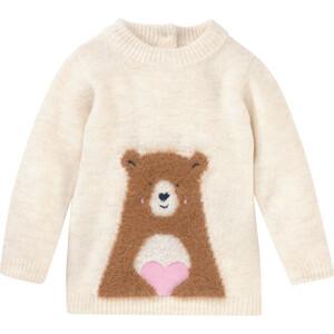 Baby Strickpullover mit Bären-Motiv