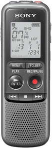 SONY ICD-PX 240 Diktiergerät, Dunkel Grau