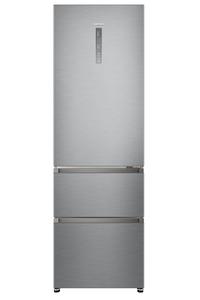 HAIER HTR5619ENMG  Kühlgefrierkombination (A++, 265 kWh/Jahr, 1900 mm hoch, Silber)