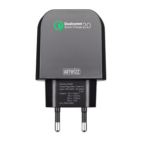 ARTWIZZ PowerPlug Ladegerät, Universal, Universal, Schwarz