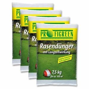 Rasendünger mit Langzeitwirkung 30 kg (4 x 7,5 kg)