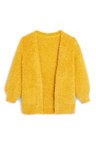 Flauschiger Cardigan in Gelb (kleine Mädchen)