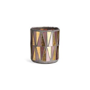 Windlicht Mosaik, D:9cm x H:10cm, rosa