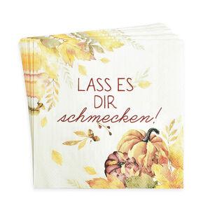 Serviette Herbstlaub, FSC® Mix, 20 Stück, rotbraun
