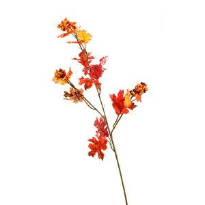Zweig Eichenblatt, L:70cm, rot