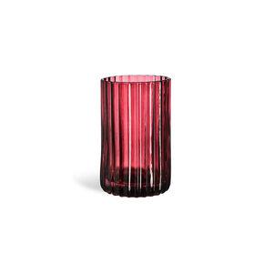Teelichtglas Stripes, D:7,5cm x H:12cm, bordeaux