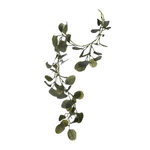Girlande Eukalyptus beeist, L:80cm, grün