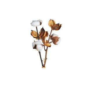 Zweig Baumwolle, L:15cm, weiß
