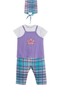 Baby Kleid + T-Shirt + Leggings + Kopftuch (4-tlg.) Bio-Baumwolle