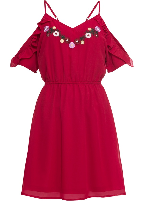 Kleid mit Stickerei von Bonprix ansehen!
