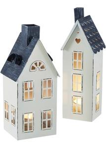 Windlicht Haus 2er-Set