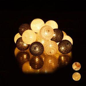 LED Lichterkette mit 20 Kugeln schwarz