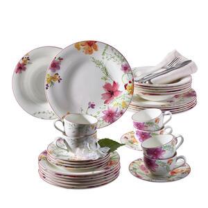 Villeroy & Boch Porzellan kaffeeservice 18-teilig , 1041007128 , Multicolor , Keramik , Blume , 20x33x34 cm , 0034071175