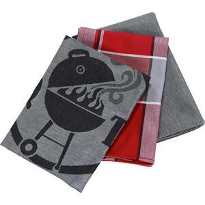 Esposa Geschirrtuch-set 3-teilig , Criollo 3ER Pack , Rot, Schwarz, Weiß , Textil , Graphik , 50x70 cm , Jacquard , saugfähig, strapazierfähig , 005284001303