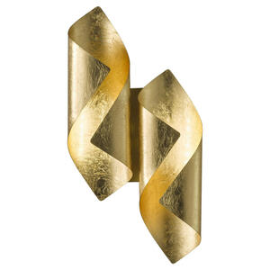 Wofi Led-wandleuchte , 4325.02.15.8000 , Goldfarben , Metall , 42x10x21 cm , vergoldet , 003131055701