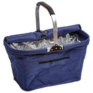 Boxxx Einkaufskorb , Lw-G812C , Dunkelblau , Metall, Kunststoff , 27x27x50 cm , 0085170002