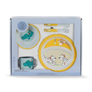 Sterntaler Kindergeschirrset , 6801950  *mb* , Gelb, Grün , Kunststoff , Tier , 39x31x9 cm , glänzend , lebensmittelecht , 004910025005