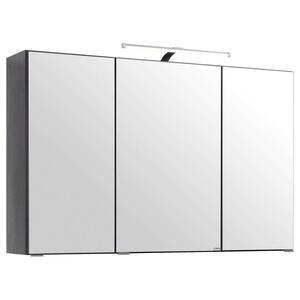Xora Spiegelschrank graphitfarben , Bregenz - Sc- , Glas , 6 Fächer , 100x64x20 cm , melaminharzbeschichtet,verspiegelt , 000307005722