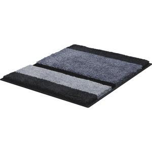 Ambiente BADTEPPICH Anthrazit, Grau, Silberfarben 60/60 cm , Raya , Textil , Streifen , 60x60 cm , für Fußbodenheizung geeignet, rutschhemmend, schadstoffgeprüft , 008250002202