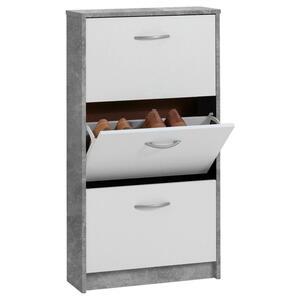 Carryhome Schuhkipper melaminharzbeschichtet grau, weiß , Step 3 , Kunststoff , 58.5x104.5x17 cm , melaminharzbeschichtet,Nachbildung , Typenauswahl , 001399015202