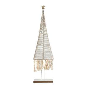 X-Mas Dekoweihnachtsbaum weiß , 611076 , Holz, Textil , 21x55x6.5 cm , 003754383402