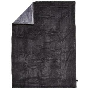 Novel Felldecke 150/200 cm anthrazit , Yukon , Textil , Uni , 150x200 cm , Webpelz , pflegeleicht, Double face , 008982016601