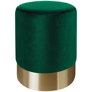 Xora Hocker samt grün, goldfarben , Puro , Metall, Textil , 35x42x35 cm , matt,Samt , Stoffauswahl , 000239000505