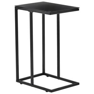 Carryhome Beistelltisch rechteckig schwarz , Joko , Metall, Glas , 30x60x40 cm , pulverbeschichtet,rückseitig lackiert , 002540003202