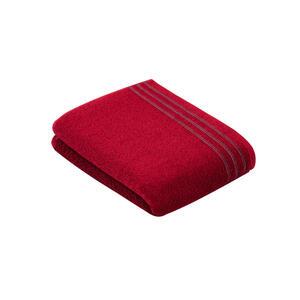 Vossen Duschtuch 67/140 cm , Grossetto 8808/2945 , Rot , Textil , Uni , 67x140 cm , Frottee , saugfähig, Aufhängeschlaufe, angenehm weich, hochwertige Qualität, Bordüre , 003355051902