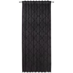 Boxxx Fertigvorhang black-out (lichtundurchlässig) 135/245 cm , Vienna , Schwarz , Textil , Ornament , 135x245 cm , Webstoff , für Stange und Schiene geeignet, mit Kombiband , 008681019303