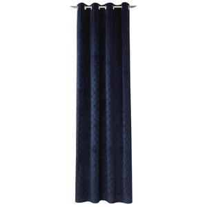 Joop! ÖSENSCHAL blickdicht 140/250 cm , J-Velvety , Dunkelblau , Textil , Uni , 140x250 cm , 003021093704
