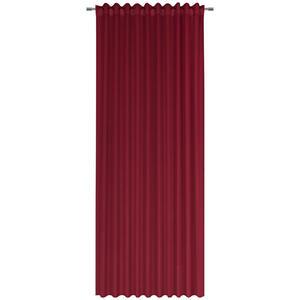 Esposa Fertigvorhang verdunkelung 140/300 cm , Simba , Rot , Textil , Uni , 140x300 cm , für Stange und Schiene geeignet, mit Kombiband , 006595008602