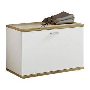 Xora Garderobenbank weiß, eichefarben , Hugo , Kunststoff , 65x45x38 cm , Nachbildung , 001837015503