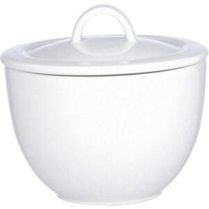 Villeroy & Boch Zuckerdose keramik , 1019080961 , Weiß , glänzend , 003407482913