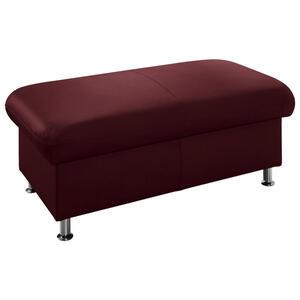Beldomo Premium Hocker echtleder rot , Graciella -Exklusiv- , Leder , 133x46x66 cm , glänzend,gewachst , Lederauswahl, klappbar, Stauraum , 002507004129