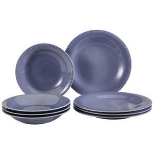 Villeroy & Boch Fine china tafelservice 8-teilig , 19-5280-8717 , Blau , Keramik , Uni , 27x14x27 cm , glänzend , 003407044904