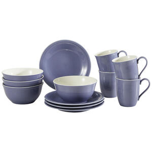 Villeroy & Boch Fine china frühstücksservice , 19-5280-9028 , Blau , Keramik , Uni , 24x23x29 cm , glänzend , 003407044909