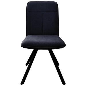 Carryhome Stuhl flachgewebe grau, schwarz , Texas , Metall, Textil , 44x89x64 cm , matt, lackiert,Flachgewebe , Sitzfläche 360° drehbar , 000575015701