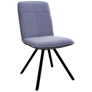 Carryhome Stuhl flachgewebe schwarz, hellgrau , Texas , Metall, Textil , 44x89x64 cm , matt, lackiert,Flachgewebe , Sitzfläche 360° drehbar , 000575015702